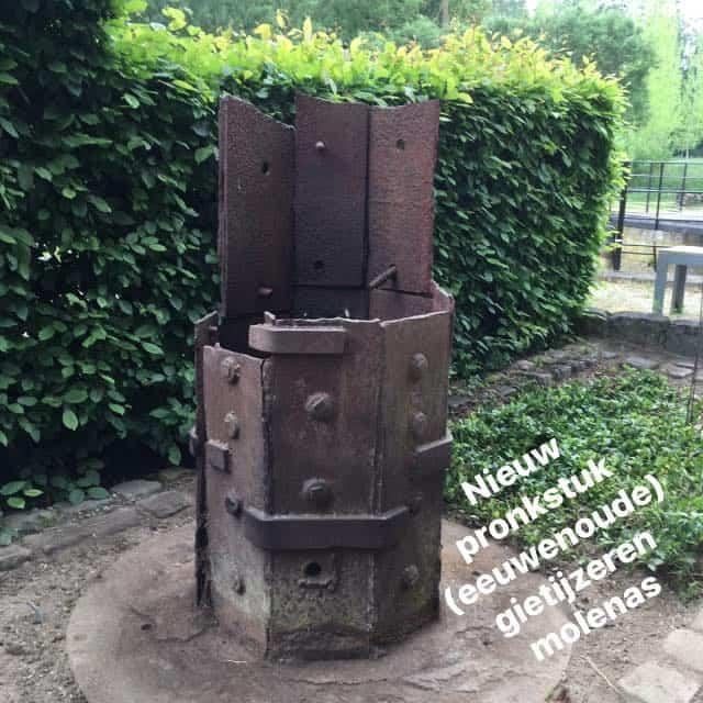 Eerste gietijzeren molenas jaren 1700